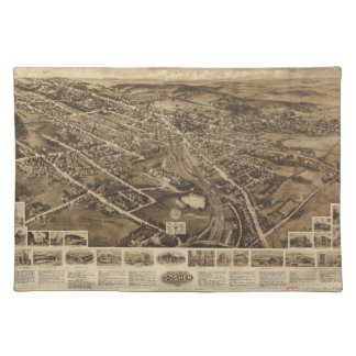 Aero view Map of Goshen New York (1922) Placemat