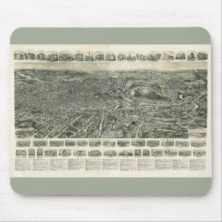 Aero view of Fitchburg Massachusetts (1915) Mouse Pad