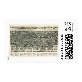 Aero view of Fitchburg Massachusetts (1915) Postage