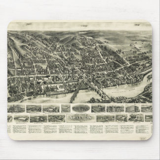 Aero view of Shelton, Connecticut (1919) Mouse Pad