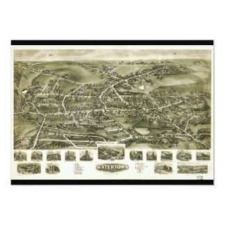 Aero view of Watertown Connecticut (1918) 5x7 Paper Invitation Card