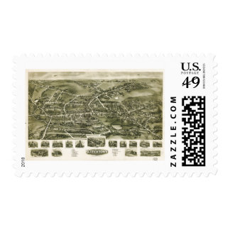 Aero view of Watertown Connecticut (1918) Postage Stamp
