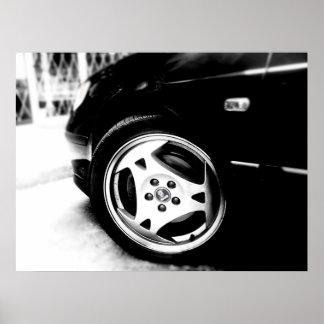 Aero wheel - Saab 9-5 Poster