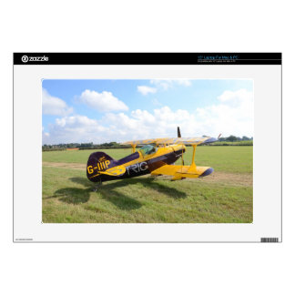 "Aerobatic Bi-Plane On The Field 15"" Laptop Skin"