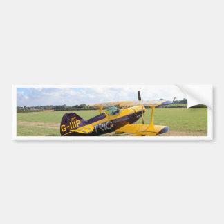 Aerobatic Bi-Plane On The Field Bumper Sticker