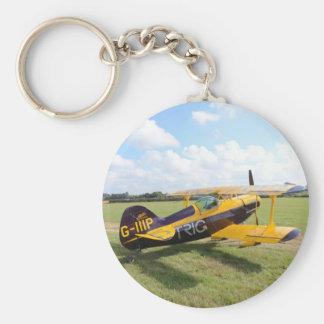 Aerobatic Bi-Plane On The Field Keychain