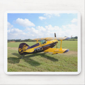 Aerobatic Bi-Plane On The Field Mouse Pad