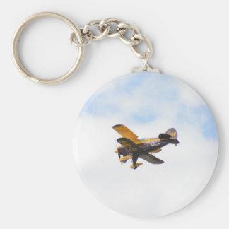 Aerobatic Biplane In Flight Keychain