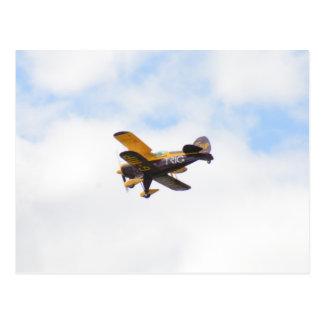 Aerobatic Biplane In Flight Postcard
