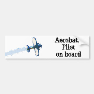 Aerobatic Pilot on board Car Bumper Sticker
