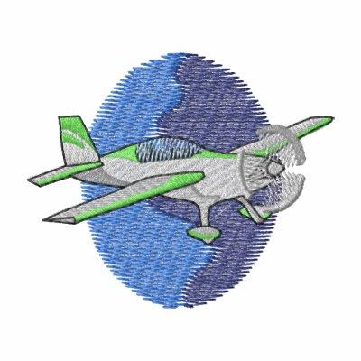 Aerobatic Plane Embroidered Shirts