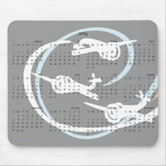 Aerobatic planes 2014 calendar mouse pad