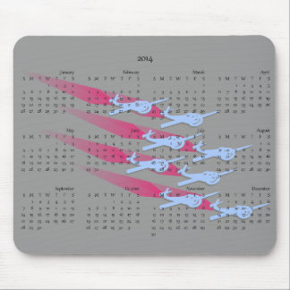 Aerobatic planes in formation 2014 calendar mouse pad