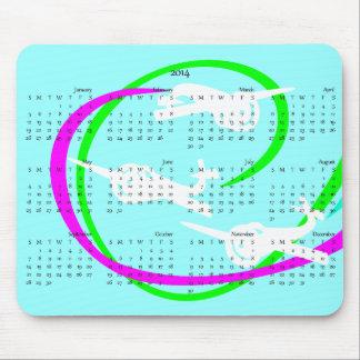 Aerobatic Stunt planes  2014 calendar Mouse Pad