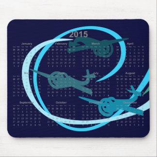 Aerobatic Stunt planes  2015 calendar Mouse Pad