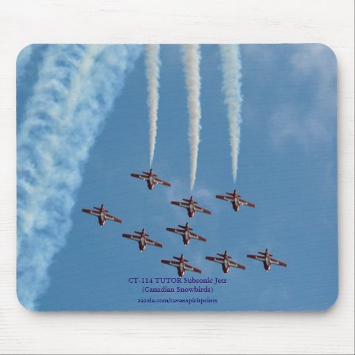 Aerobatic Subsonic Turbo-Jets High Loop Mouse Pad