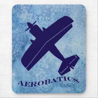 Aerobatics Biplane Mouse Pad