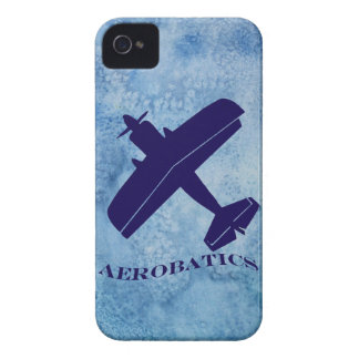 Aerobatics Blue Biplane iPhone 4 Cover