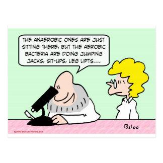 aerobic anaerobic bacteria scientists postcard
