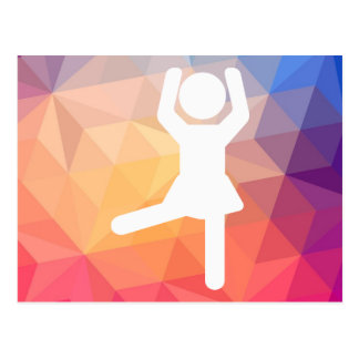 Aerobic Exercises Pictograph Postcard