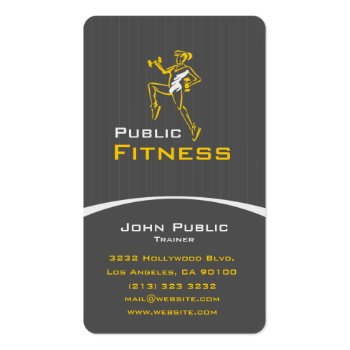 Aerobic Fitness Center Business Card profilecard