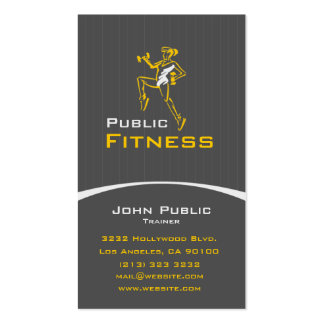 Aerobic Fitness Personal Trainer Business Card