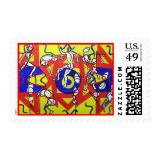 Aerobic Workout Postage Stamps