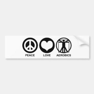 Aeróbicos del amor de la paz pegatina para auto