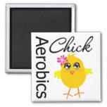 Aerobics Chick 2 Inch Square Magnet