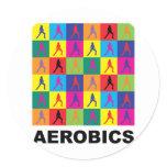 Aerobics Classic Round Sticker