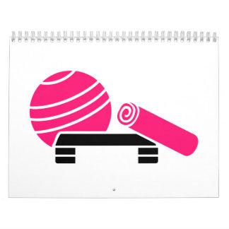 Aerobics equipment calendar