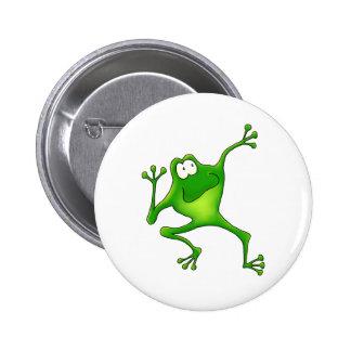 Aerobics Frog Pinback Button