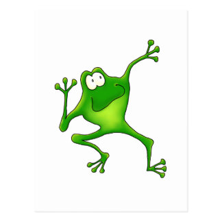 Aerobics Frog Postcard