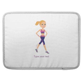 Aerobics Girl Laptop Sleeve