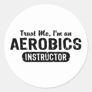 Aerobics Instructor Classic Round Sticker
