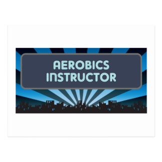 Aerobics Instructor Marquee Postcard