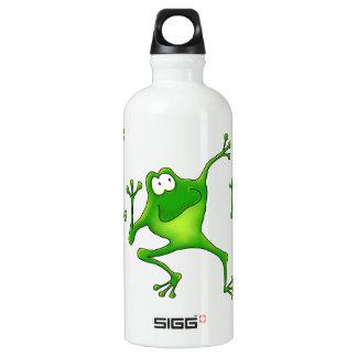 Aerobics Jumping Frogs Aluminum Water Bottle