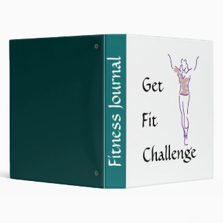 Aerobics one bigger, Challenge, Fit, Get 3 Ring Binder