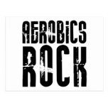 Aerobics Rock Postcard