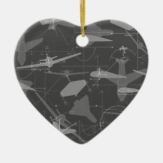 Aerodinámica Adorno Navideño De Cerámica En Forma De Corazón