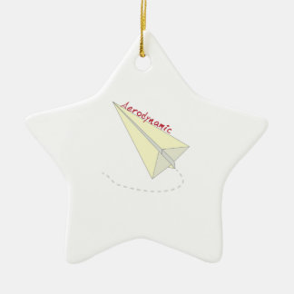 Aerodynamic Double-Sided Star Ceramic Christmas Ornament