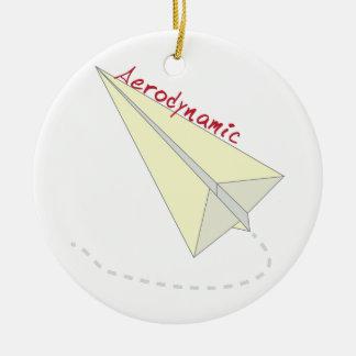 Aerodynamic Double-Sided Ceramic Round Christmas Ornament