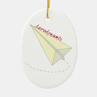 Aerodynamic Double-Sided Oval Ceramic Christmas Ornament