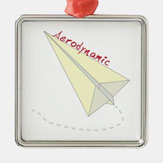 Aerodynamic Square Metal Christmas Ornament