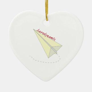 Aerodynamic Double-Sided Heart Ceramic Christmas Ornament