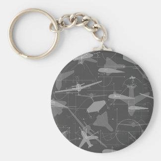 Aerodynamics Basic Round Button Keychain