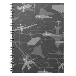 Aerodynamics Spiral Note Book
