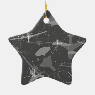 Aerodynamics Double-Sided Star Ceramic Christmas Ornament