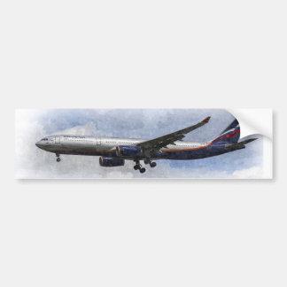 Aeroflot Airbus A330 Art Bumper Sticker