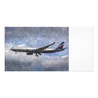 Aeroflot Airbus A330 Art Photo Card
